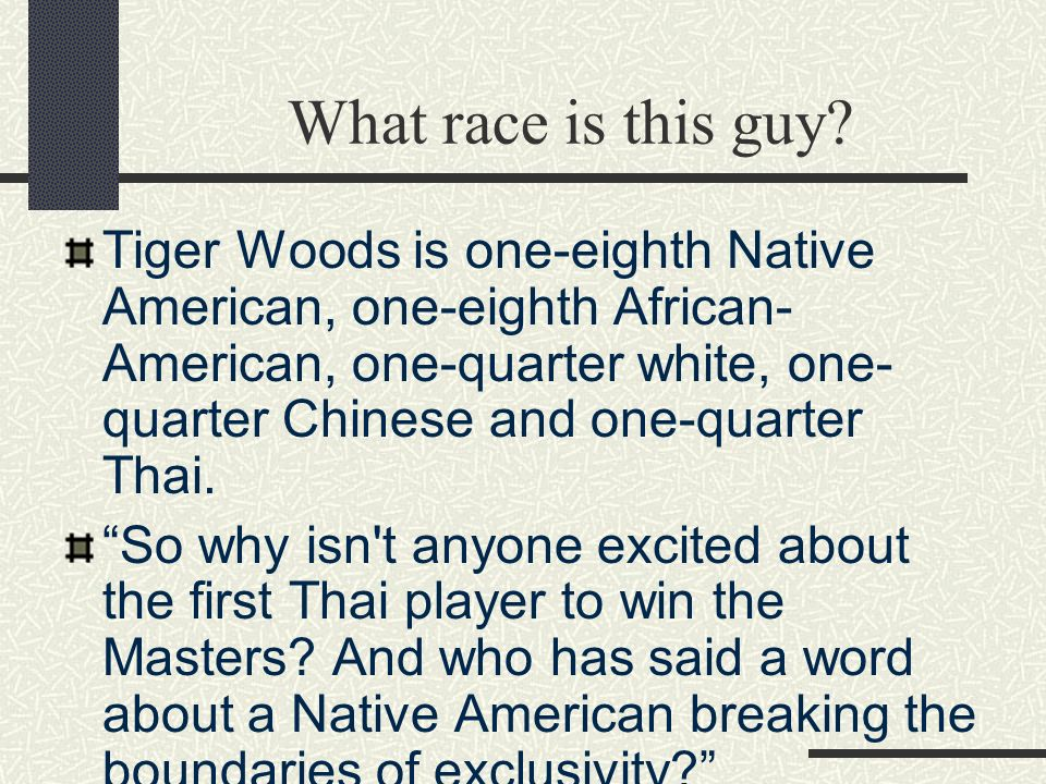 What race is this guy