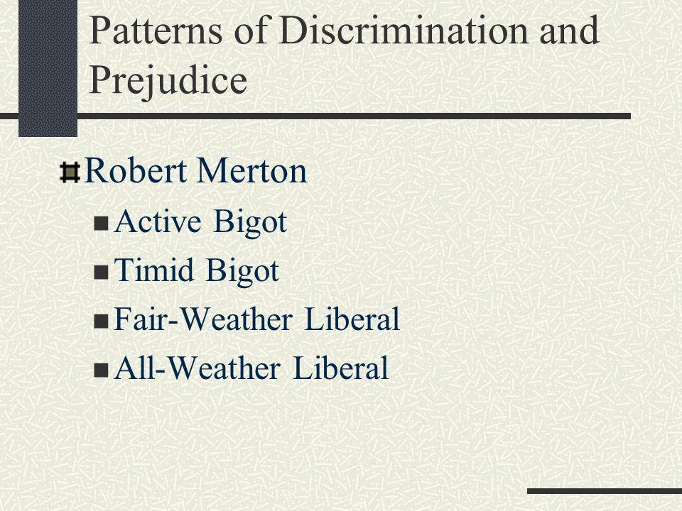 Patterns of Discrimination and Prejudice