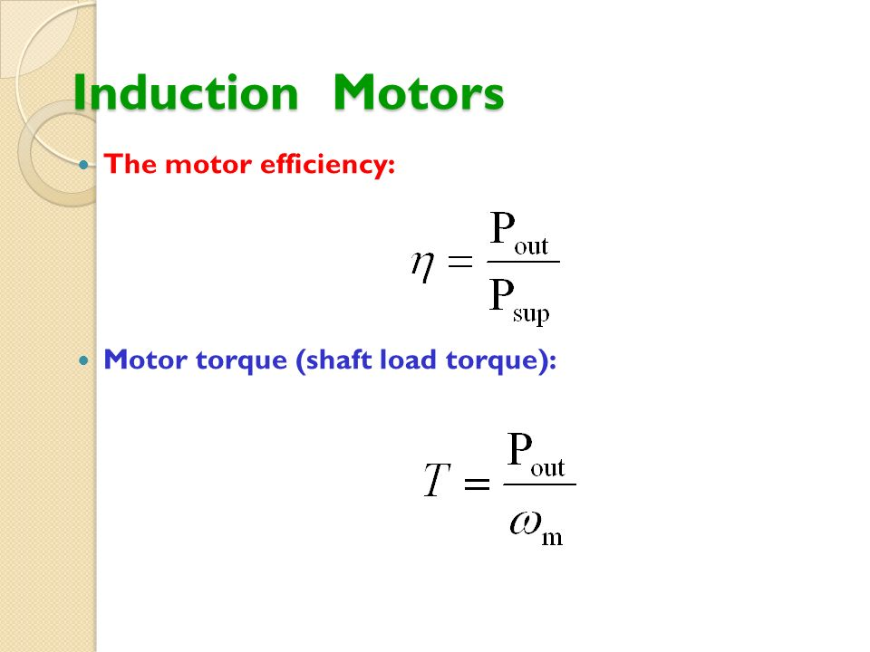 Eet 306 electric machines syafruddin hasan ppt video for Single phase motor efficiency