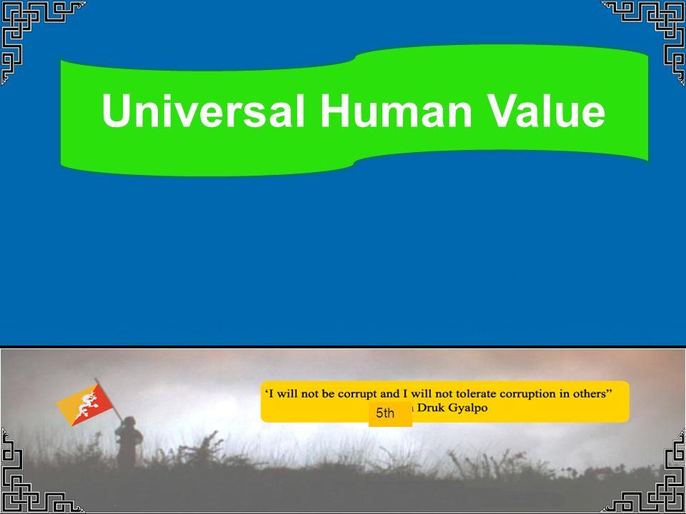 Universal Human Value Dorji Thinlay Chief Investigation Officer