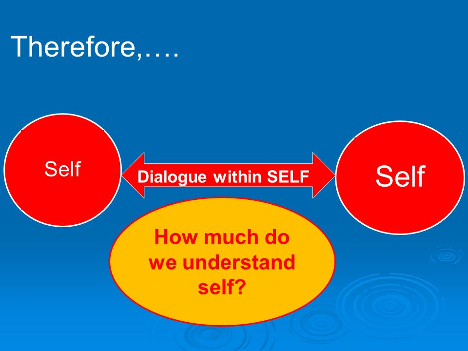 How much do we understand self