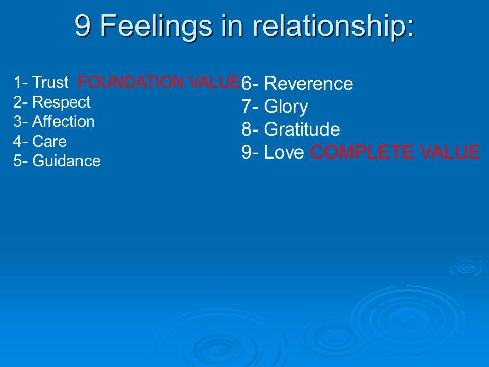 9 Feelings in relationship: