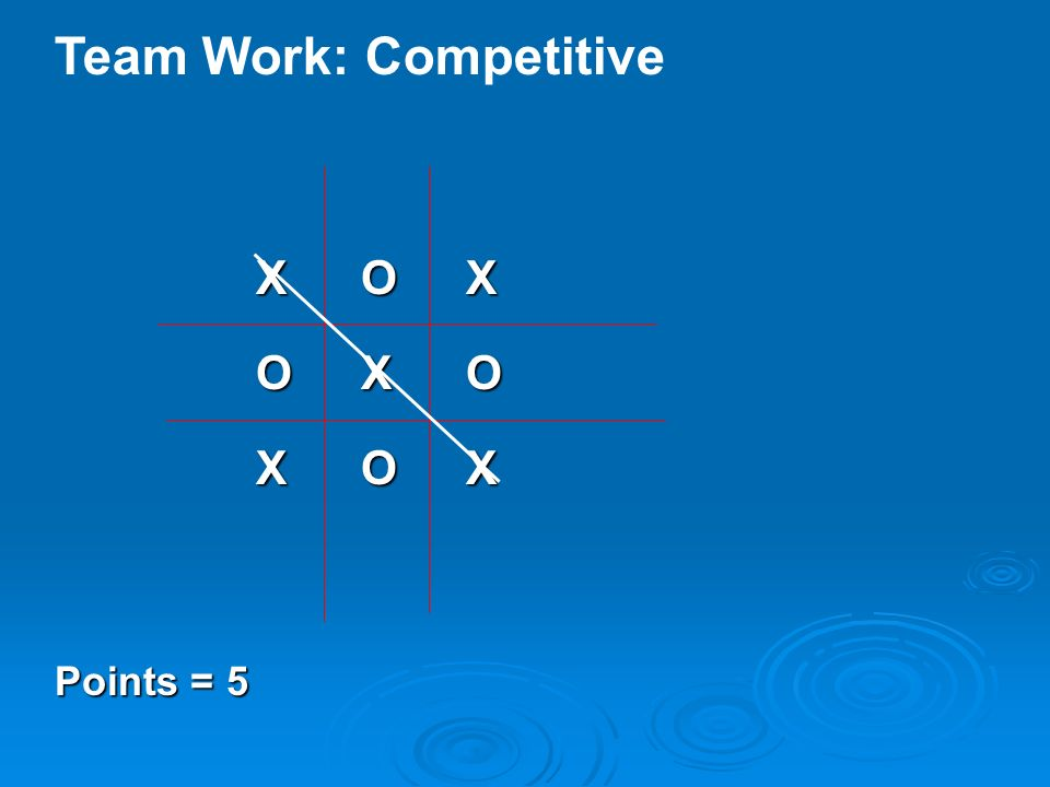 Team Work: Competitive