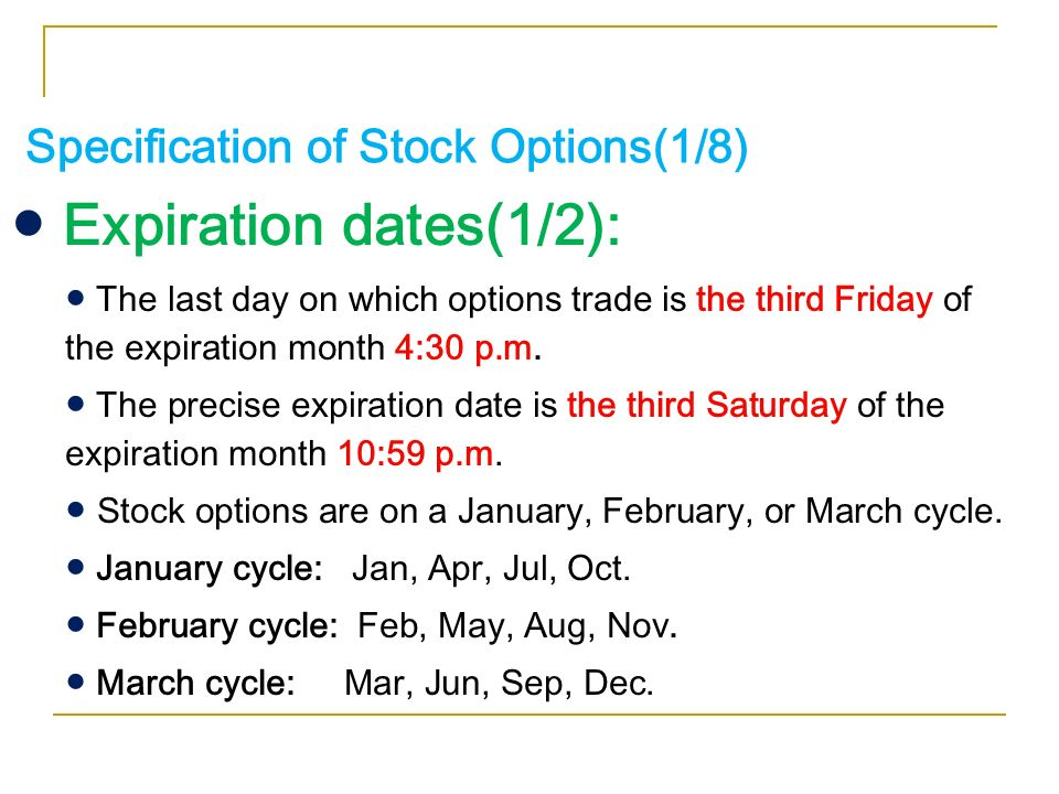 What day of the month do stock options expire