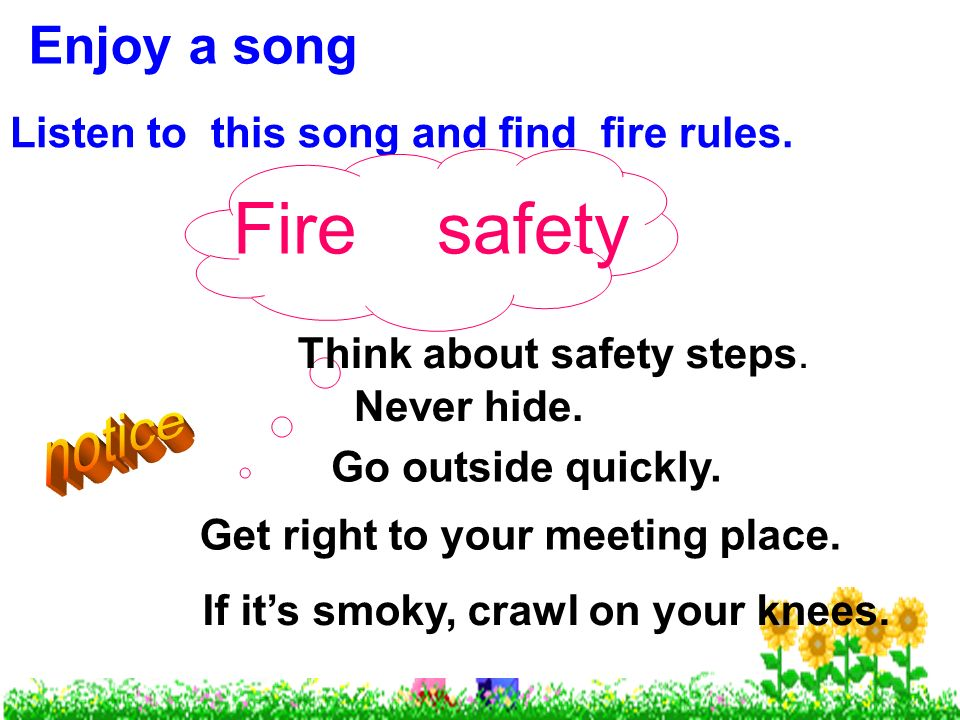 Listen Fire Safety : Welcome to our class ppt video online download