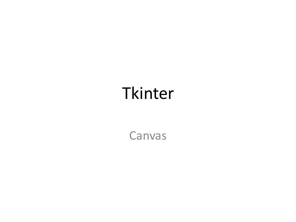 Tkinter Canvas