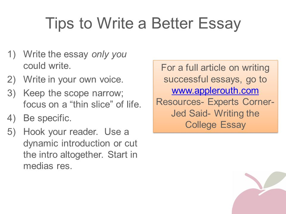 how to write better essays pdf download
