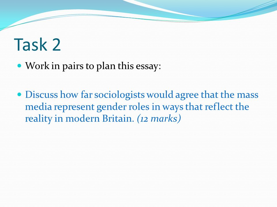 sociology essay on mass media