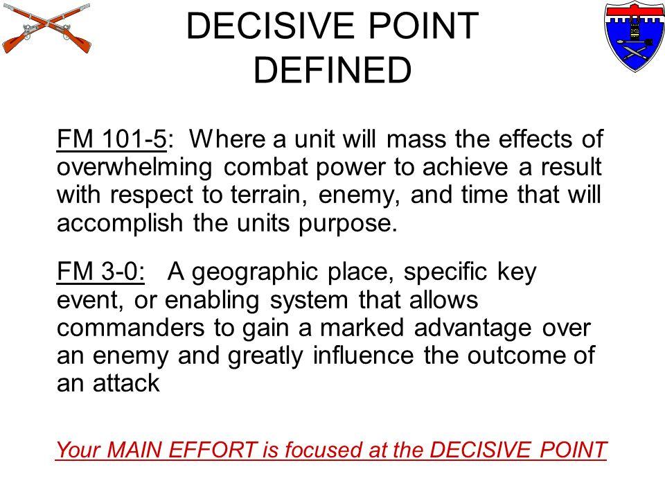 DECISIVE POINT DEFINED