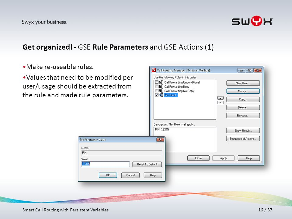 Get organized! - GSE Rule Parameters and GSE Actions (1)