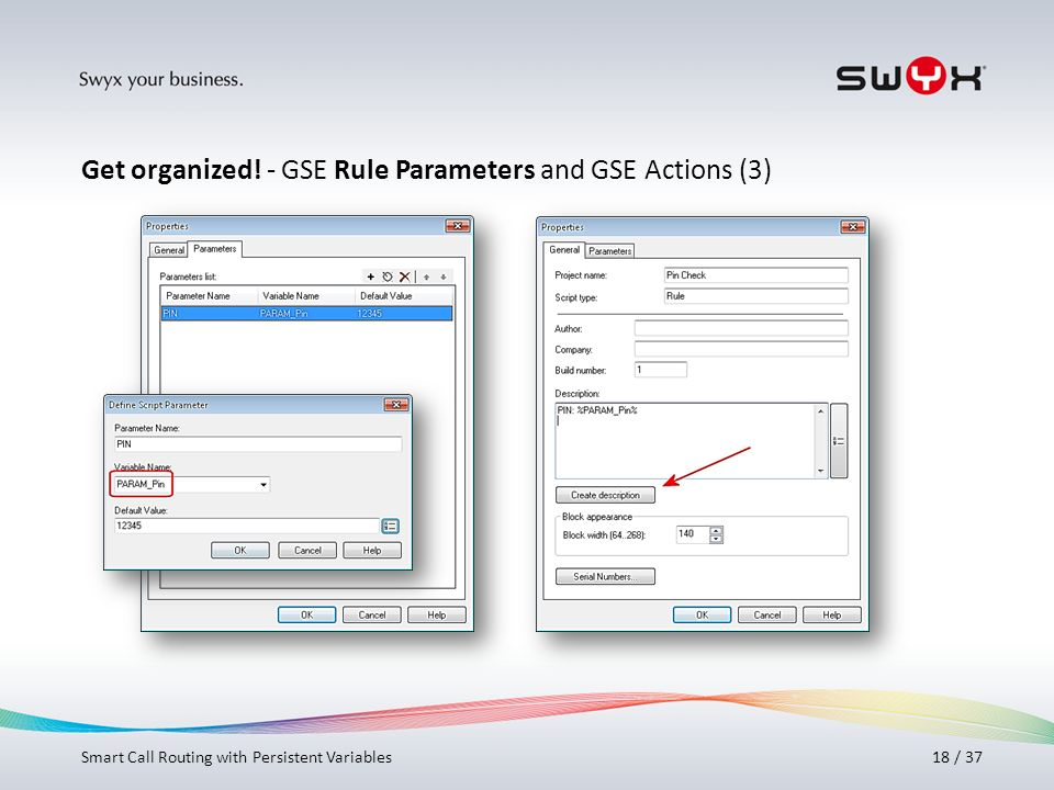 Get organized! - GSE Rule Parameters and GSE Actions (3)
