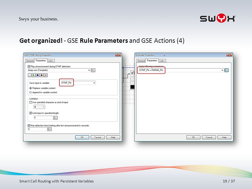 Get organized! - GSE Rule Parameters and GSE Actions (4)