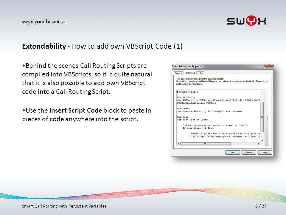 Extendability - How to add own VBScript Code (1)