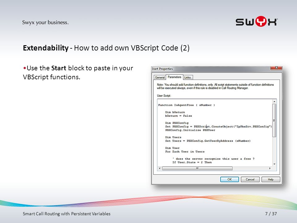 Extendability - How to add own VBScript Code (2)