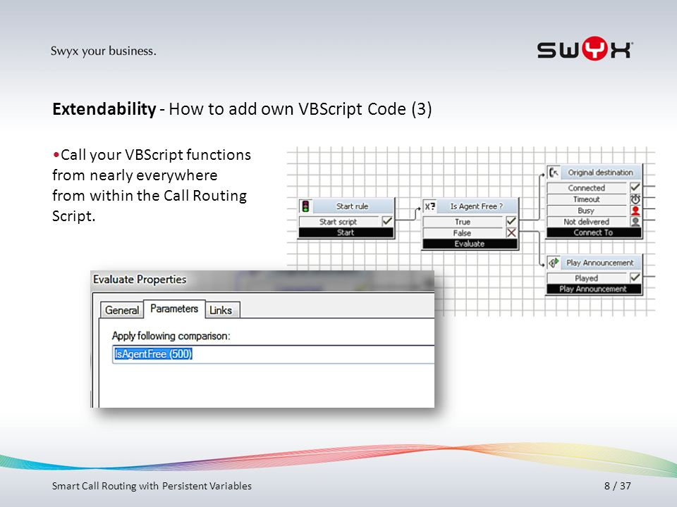 Extendability - How to add own VBScript Code (3)