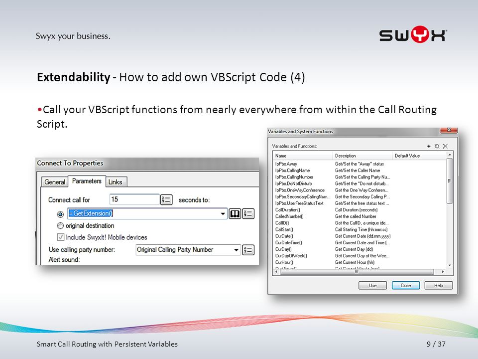Extendability - How to add own VBScript Code (4)
