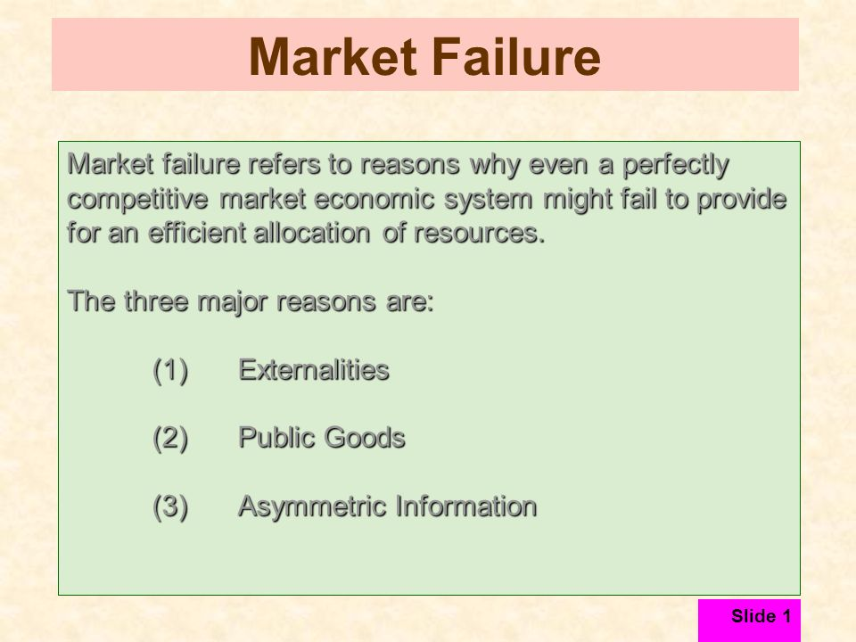 market failure externalities