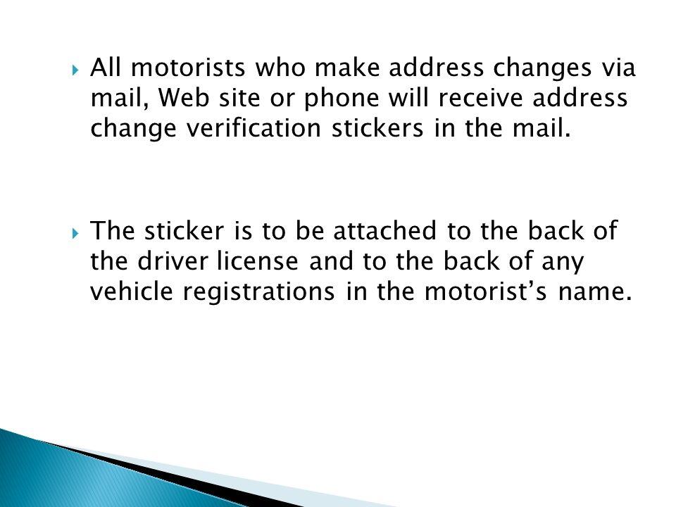 Motor vehicle address change nj vehicle ideas for Motor vehicle nj telephone number