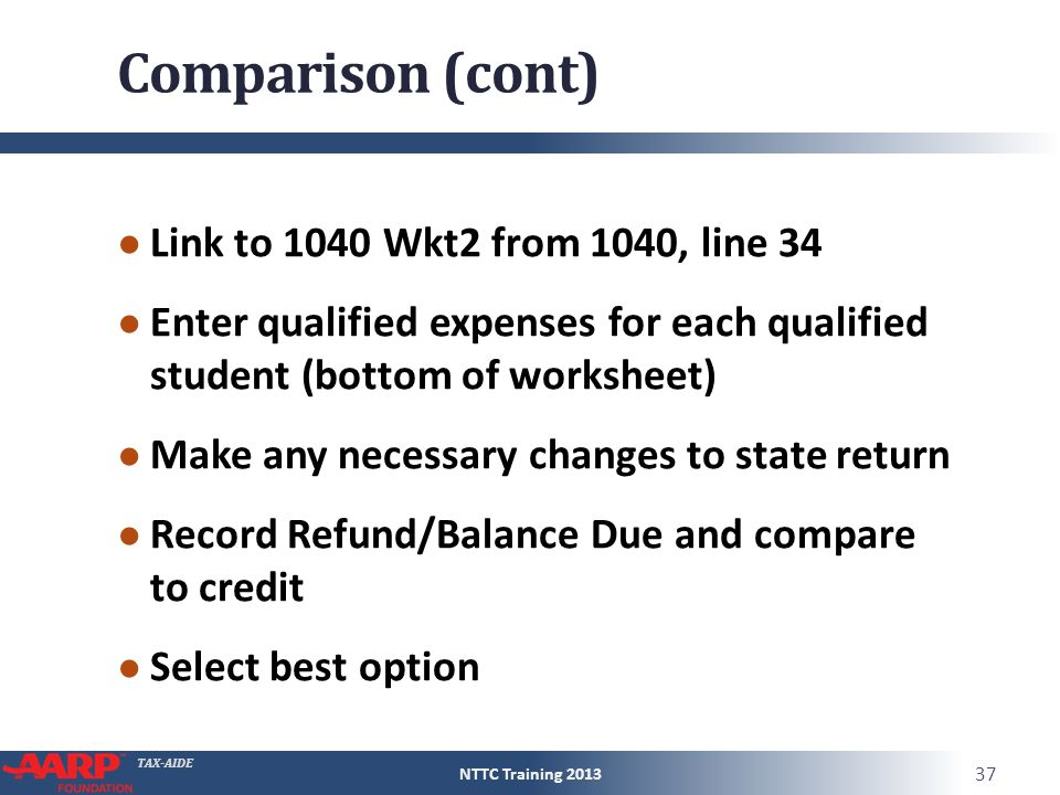 Education Benefits American Opportunities Credit ppt download – 2013 Eic Worksheet