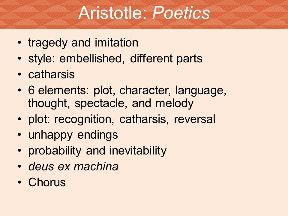 aristotle poetics Pdf | this paper provides an overview and commentary of aristotle's theory of  poetry, of drama, and of narrative structure, as presented the poetics the main.