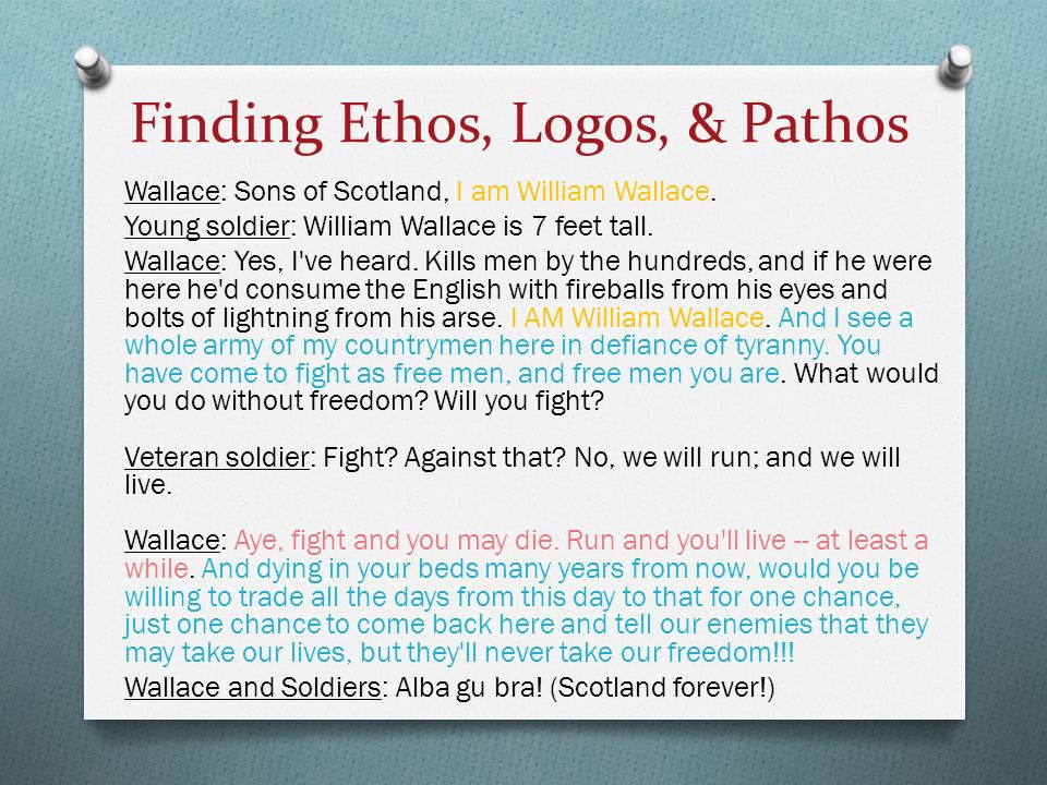 patrick henry s use logos ethos and pathos his speech va c Ethos, pathos and logos english the fun way study skills provides an opportunity for students to receive patrick henry seeks to.