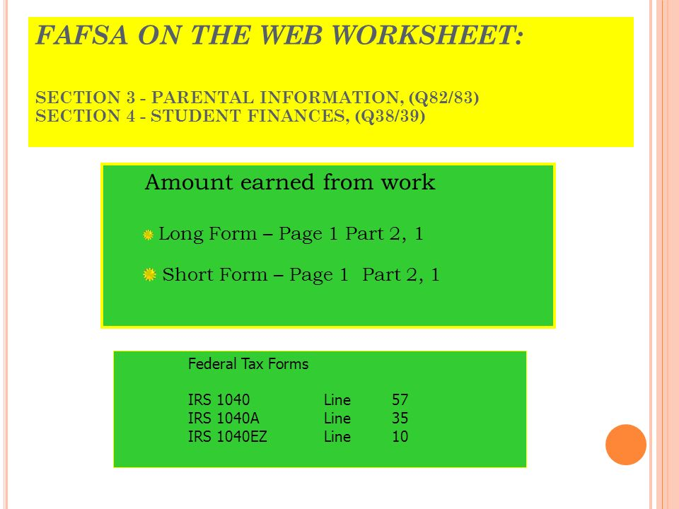 Puerto Rico Tax Forms Understanding the key elements of the Puerto – Fafsa on the Web Worksheet