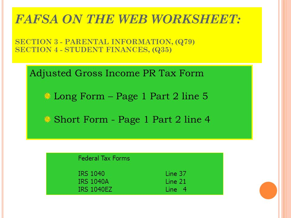 Puerto Rico Tax Forms Understanding the key elements of the Puerto – 1040ez Worksheet for Line 5