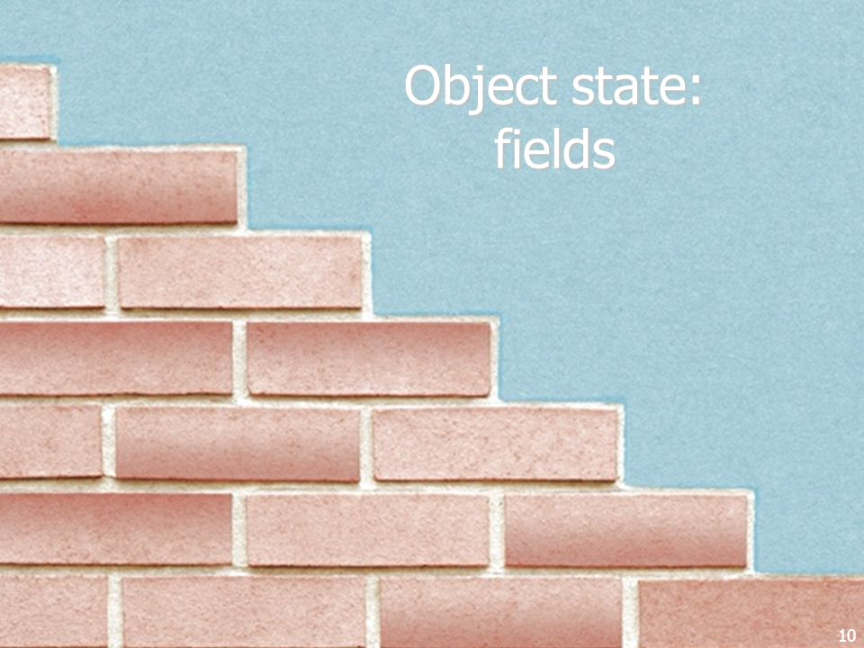 Object state: fields