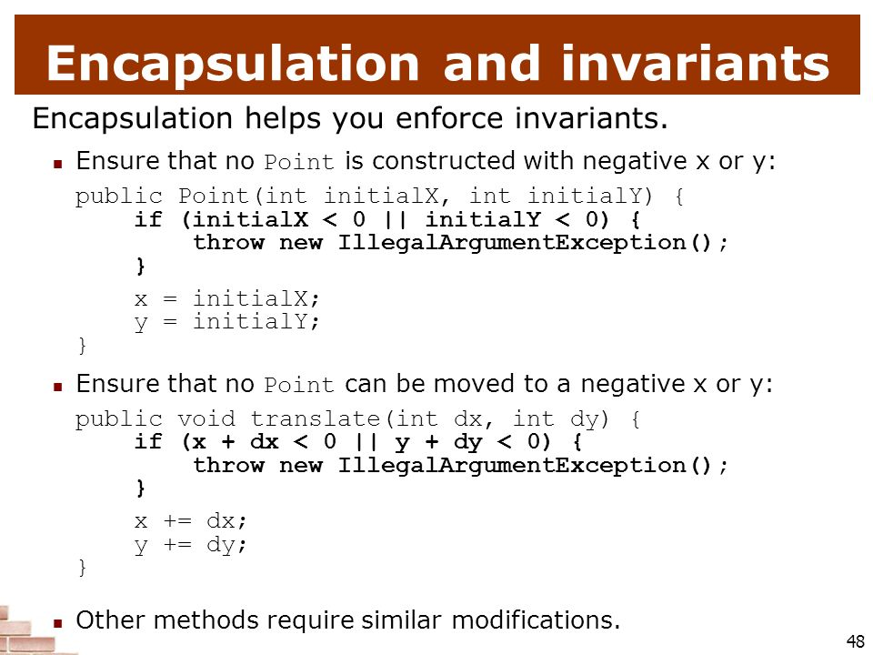 Encapsulation and invariants