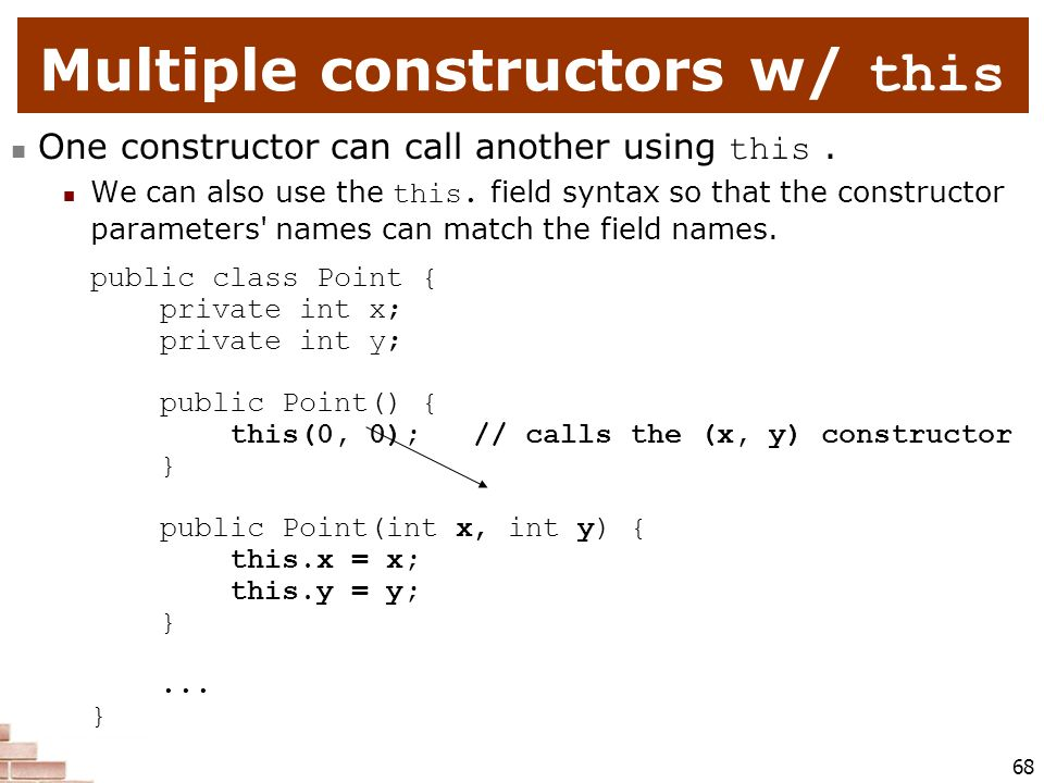 Multiple constructors w/ this