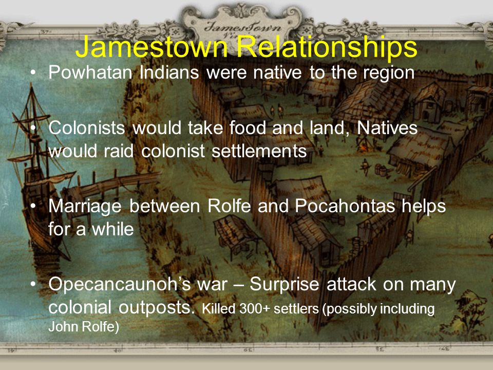 powhatan and jamestown relationship with
