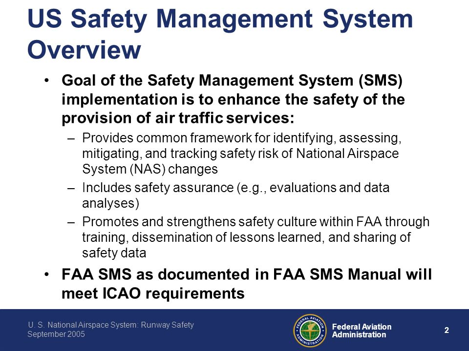 Us national airspace system runway safety ppt download us safety management system overview publicscrutiny Choice Image