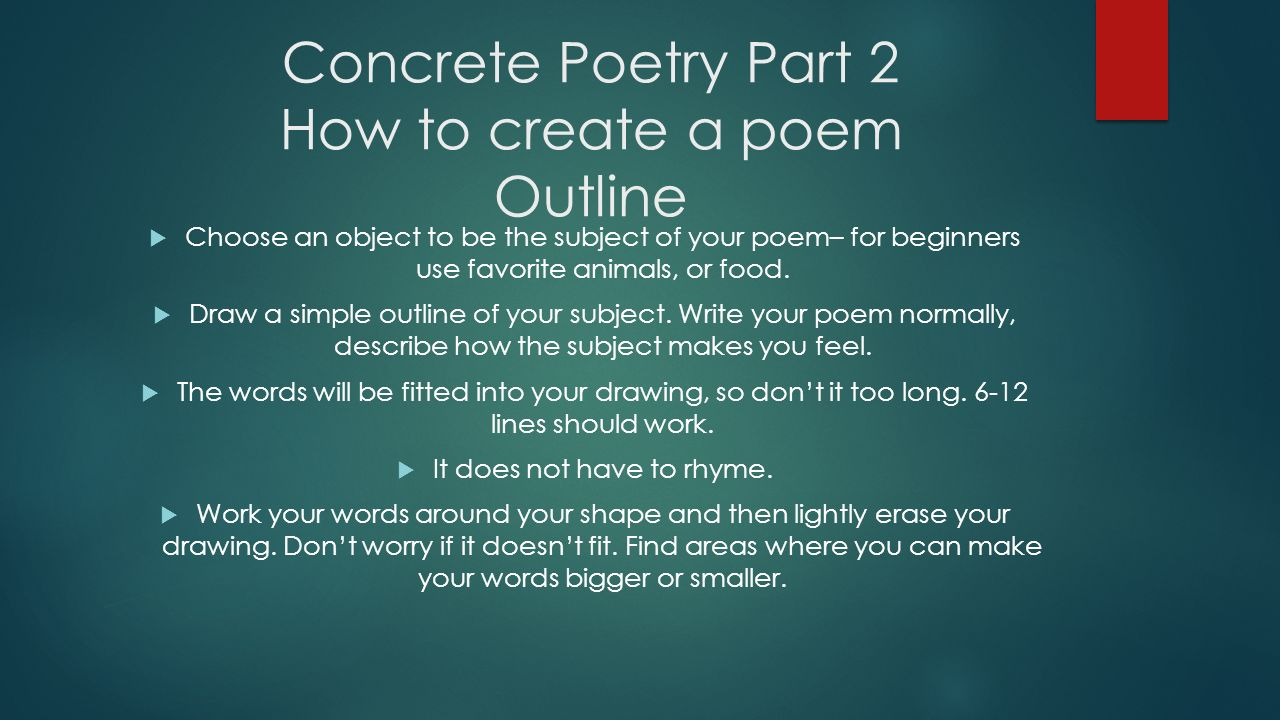 How To Write A Creative Poem