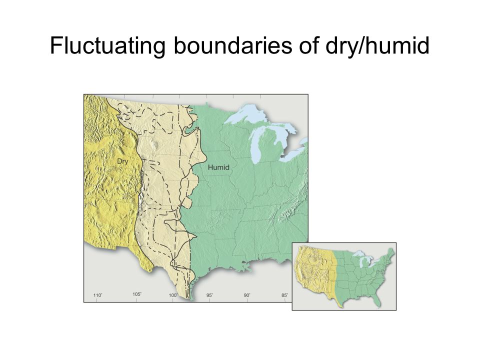 Fluctuating boundaries of dry/humid