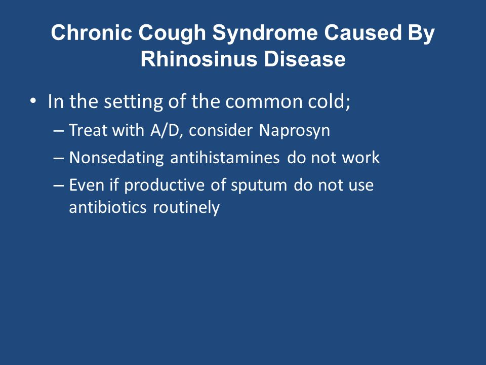 Approach To The Patient With Cough