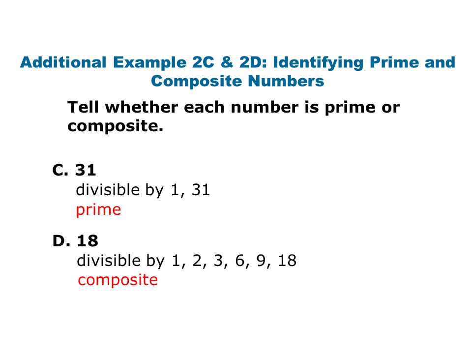 how to tell if a number is prime or composite