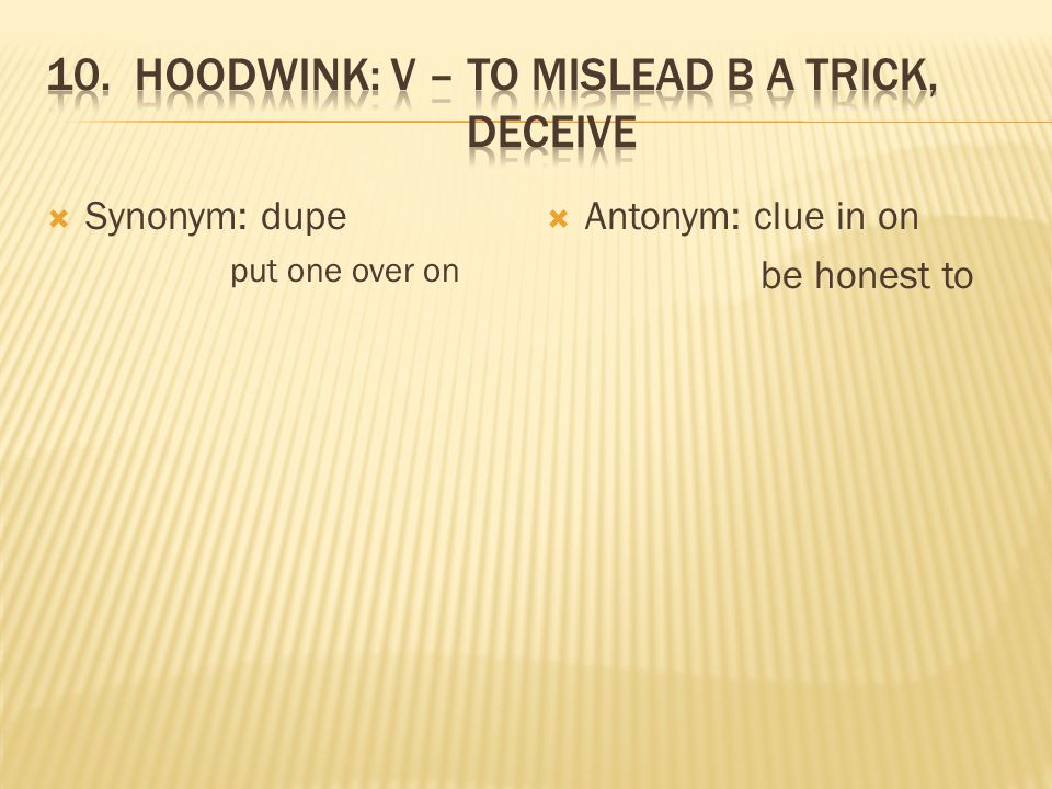 trick synonym english