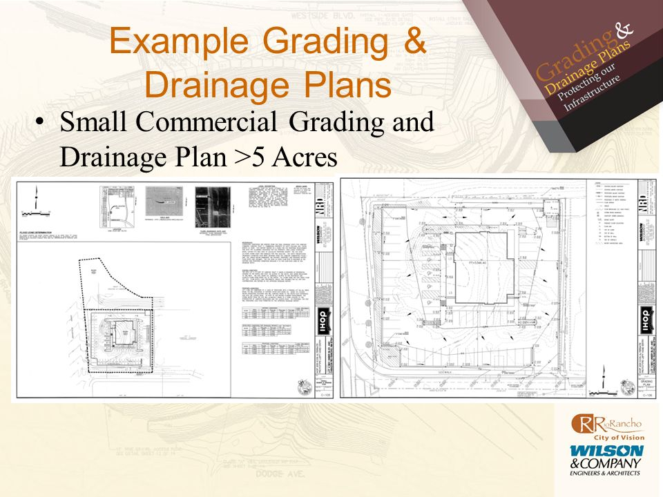 what is a grading amp drainage plan ppt download