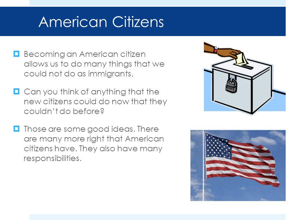 good american citizen