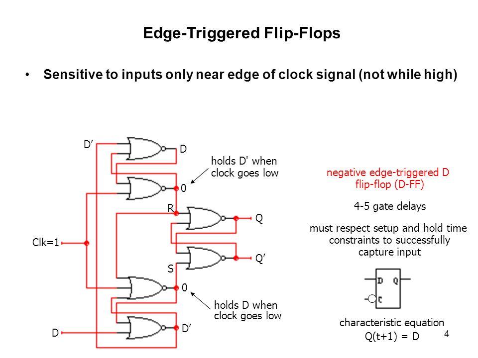 edge triggered d flip flop pdf