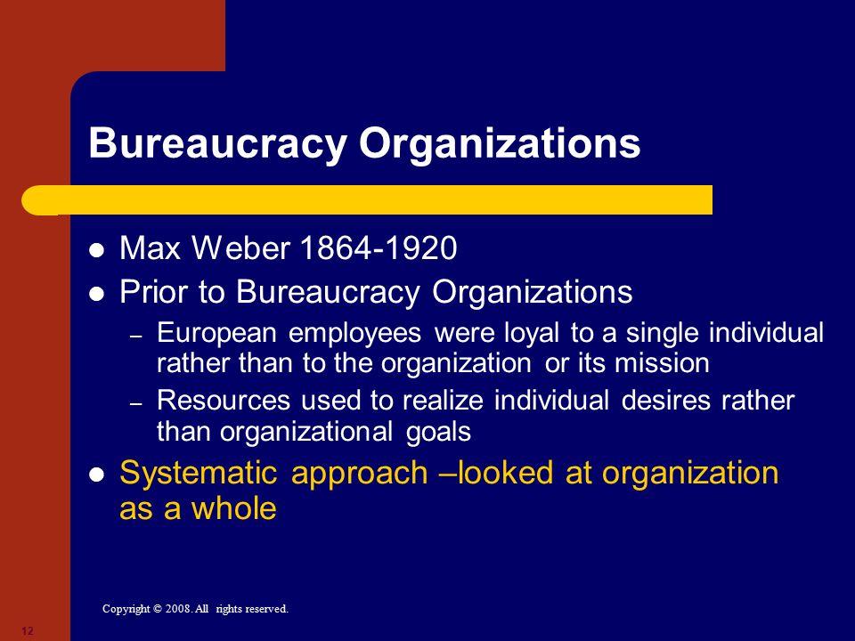 Bureaucracy Organizations