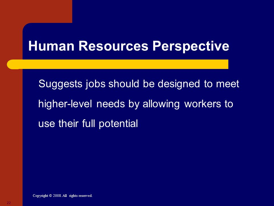 Human Resources Perspective