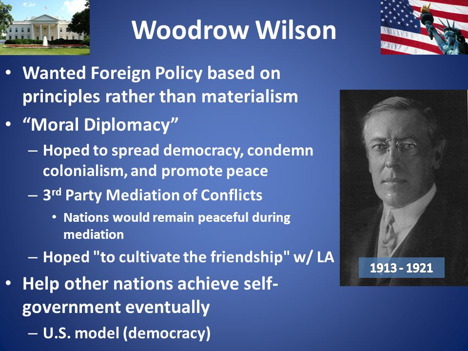 compare and contrast foreign policys of taft roosevelt and wilson