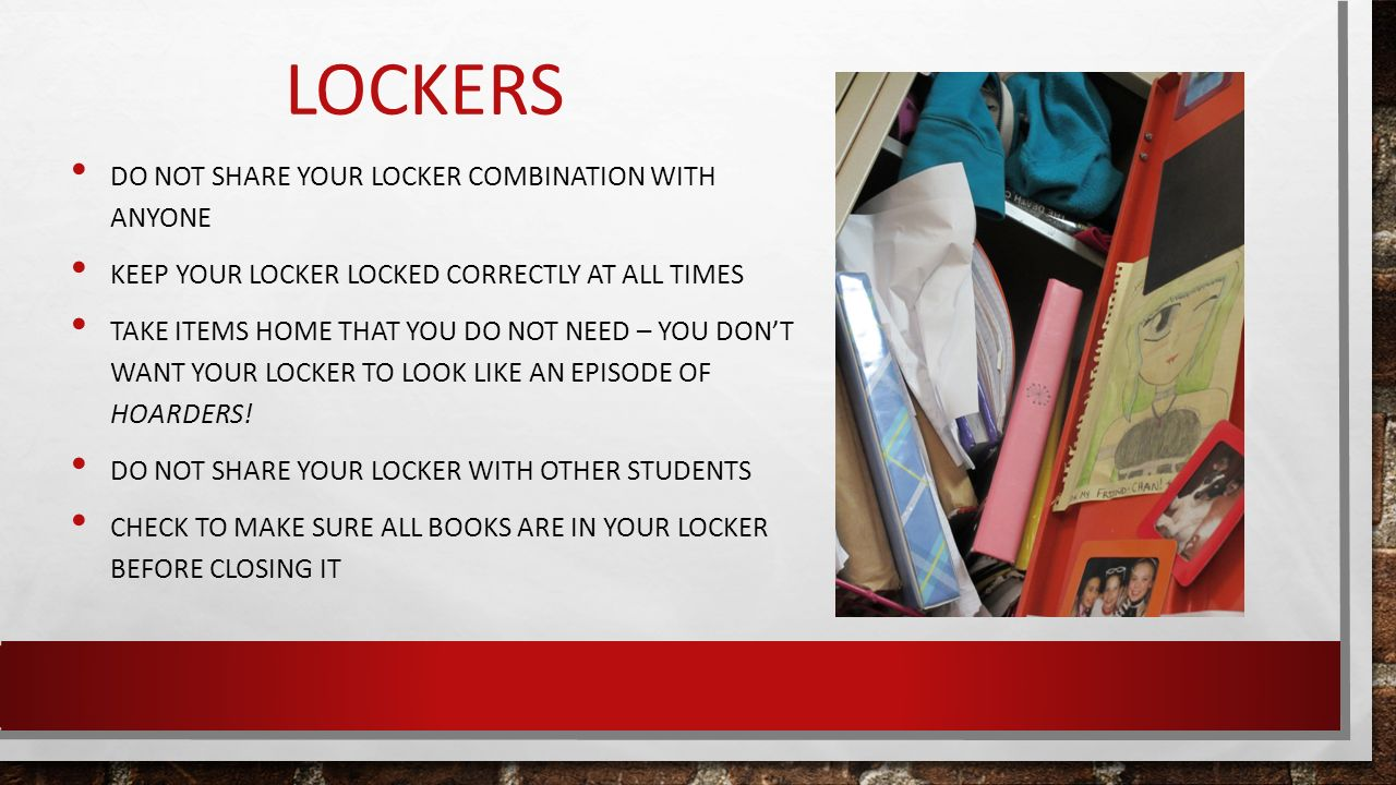Locker supply preparation ppt video online download for What not to do before closing on a house