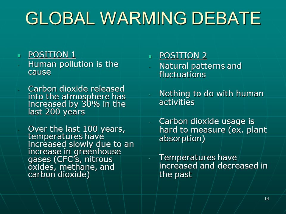 global warming the controversy and its Seems valuable for those involved with environmental law to under- stand the basic issues: what scientists mean by global warming what are the legitimate scientific controversies about the likelihood of its occurrence and what the time frame for impacts might be this information may help determine what would be prudent.