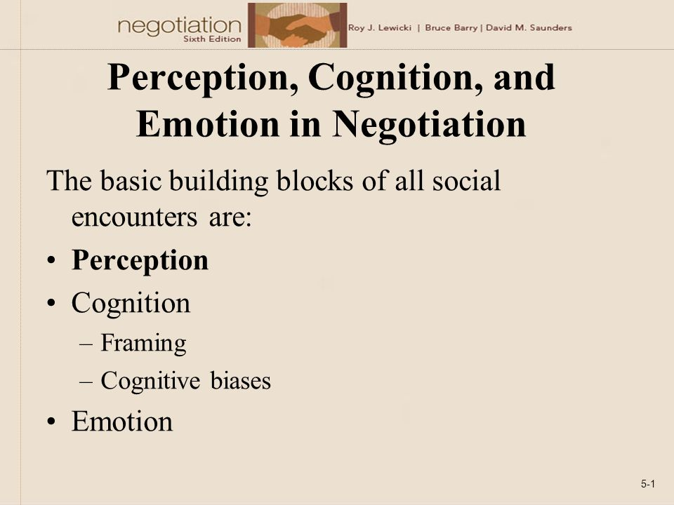 chapter 5 perception cognition and emotion