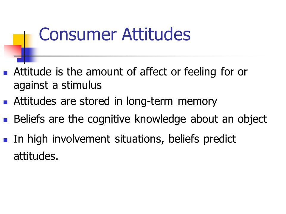 consumer attitude and behavior Market segmentation involves categorizing consumers according to some variable or factor, such as consumer attitude relationship between consumer behavior.