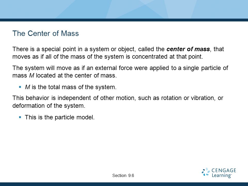 how to find center of mass for two point objects
