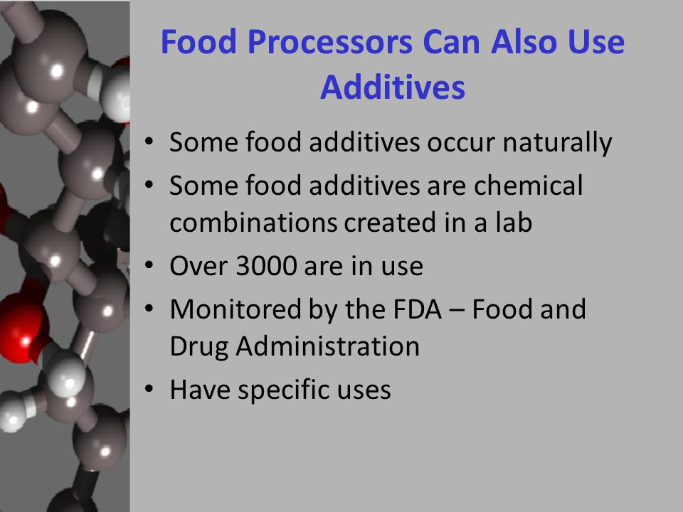 use of food additives Webmd quiz: what's in your food salt, sugar, dyes, and more see how much you know about the stuff you can't pronounce.