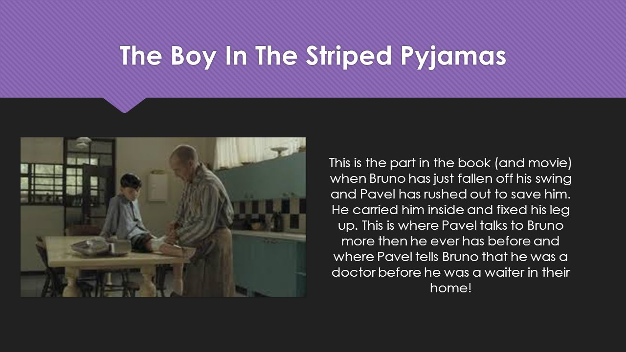 character analysis over the boy in the striped pajamas